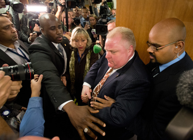 Castle Rob Ford under siege from the media forces.