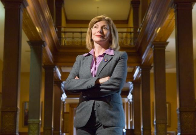 Cheri DiNovo-January 31, 2007-NDP MPP Cheri DiNovo shot in Toronto Legislature for portrait on issue